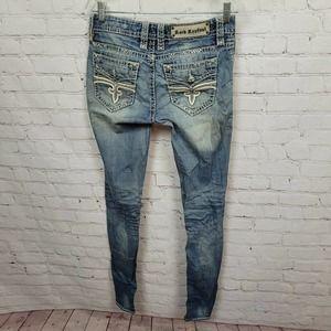 Rock Revival Felicia Skinny Jeans Low Rise Denim